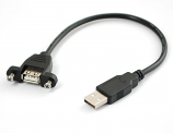 Panel Mount USB Extension Cable